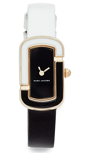 Marc Jacobs The Jacobs Leather Watch - Gold/Black/White