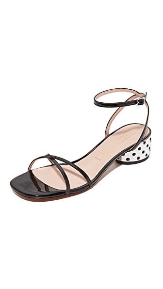 Marc Jacobs Sybil Ankle Strap City Sandals - Black
