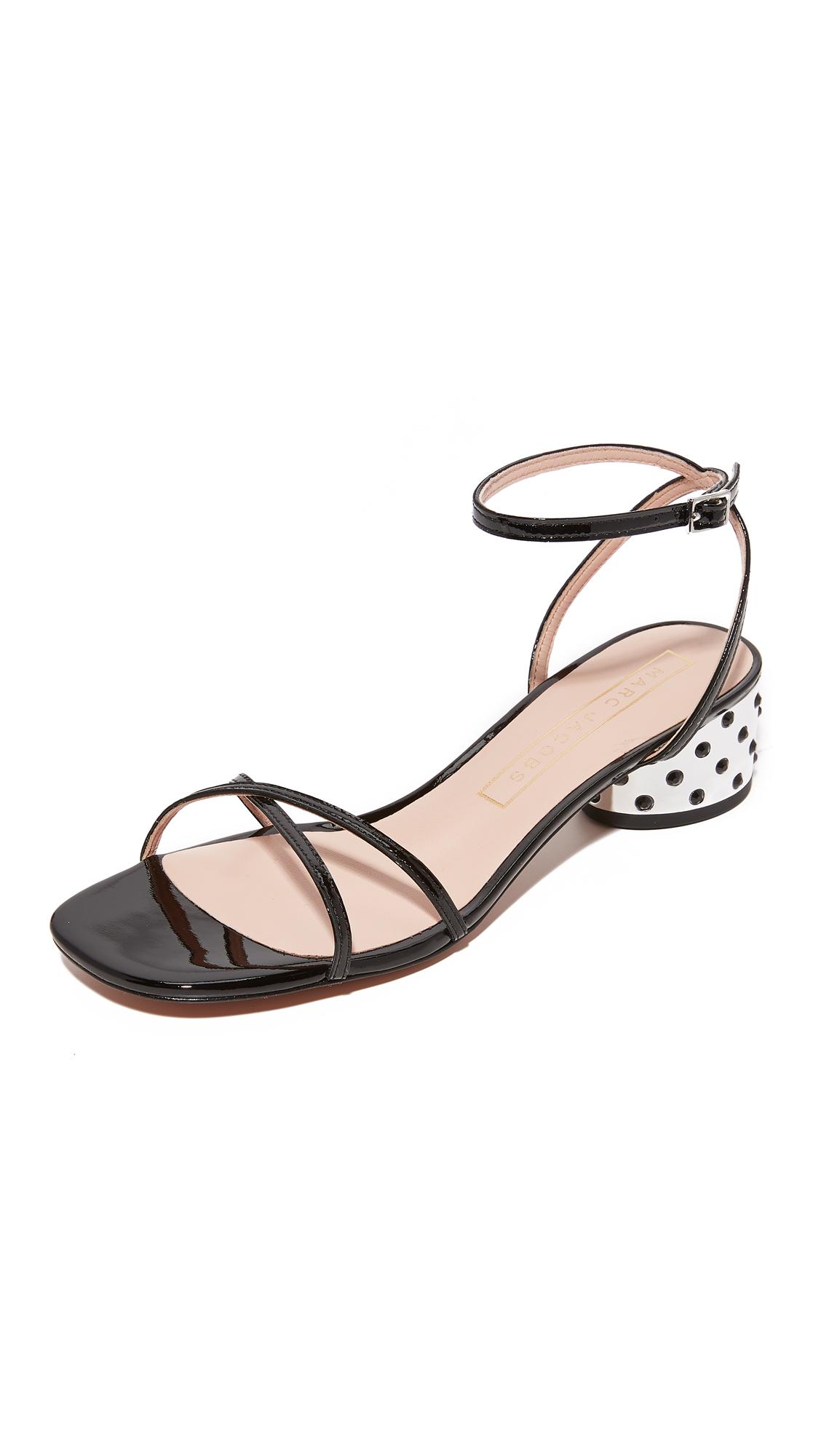 Marc Jacobs Sybil Ankle Strap City Sandals - Black