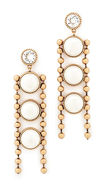 Marc Jacobs Ball Chain Imitation Pearl Earrings