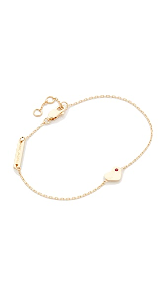 Marc Jacobs Heart Chain Bracelet - Gold
