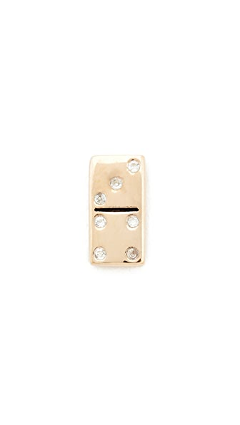 Marc Jacobs Domino Single Stud Earring - Gold