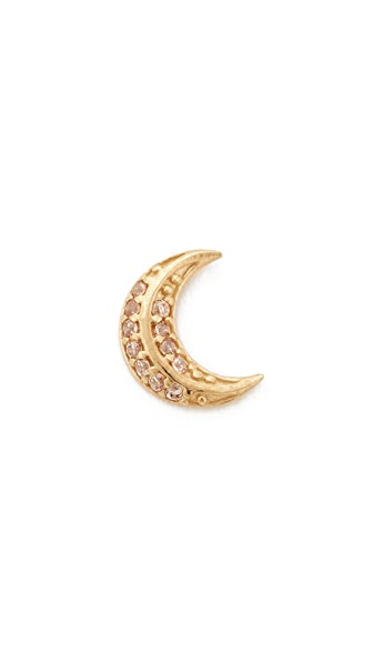 Marc Jacobs Moon Single Stud Earring In Gold