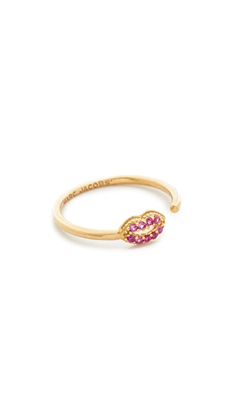 Marc Jacobs Lips Open Ring - Gold