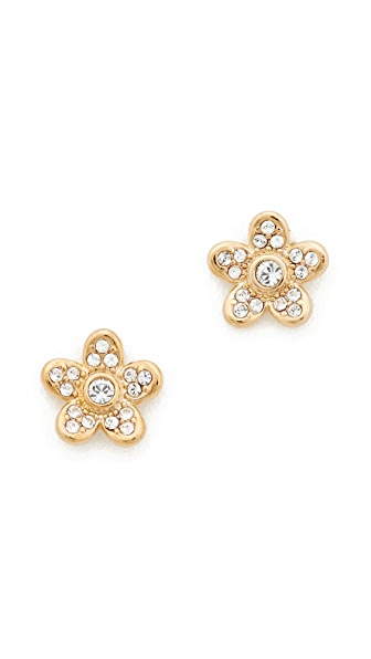 Marc Jacobs MJ Coin Flower Stud Earrings - Gold