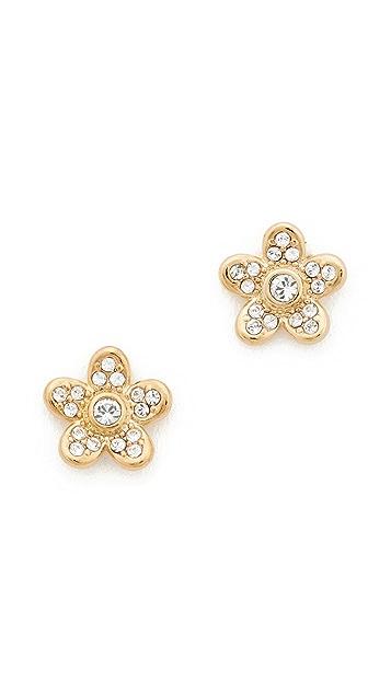 Marc Jacobs MJ Coin Flower Stud Earrings