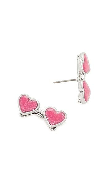 Marc Jacobs Heart Sunglasses Stud Earrings