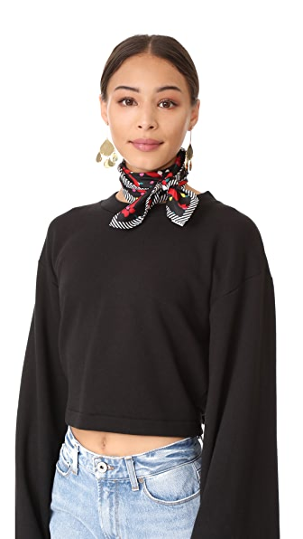 Marc Jacobs Hearts Scarf - Black Multi
