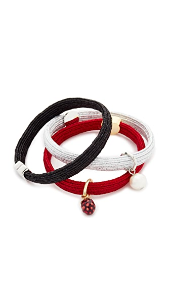 Marc Jacobs Raspberry Hair Ties - Red Multi