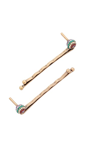 Marc Jacobs Lollipop Bobby Pins - Gold Multi