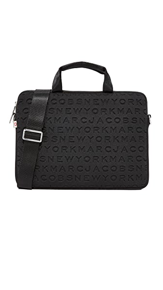 "Marc Jacobs 13"" Neoprene Logo Commuter Case - Black"