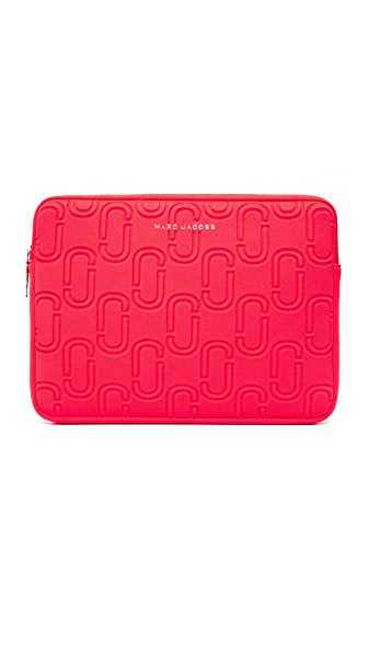 "Marc Jacobs 13"" Double J Neoprene Computer Case - Poppy Red"