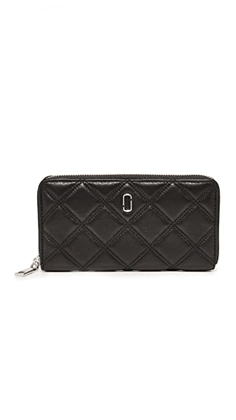 Marc Jacobs Double J Continental Wallet - Black