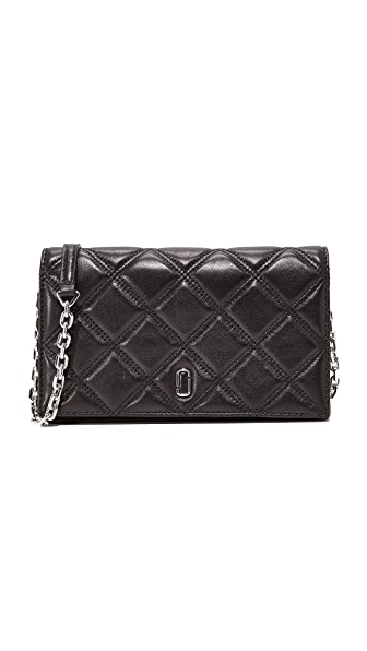 Marc Jacobs Double J Cross Body Wallet - Black