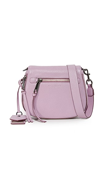 Marc Jacobs Small Nomad Saddle Bag In Pale Lilac