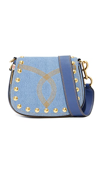 Marc Jacobs Denim Nomad Saddle Bag - Denim