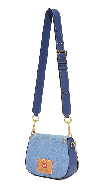 Marc Jacobs Denim Nomad Saddle Bag