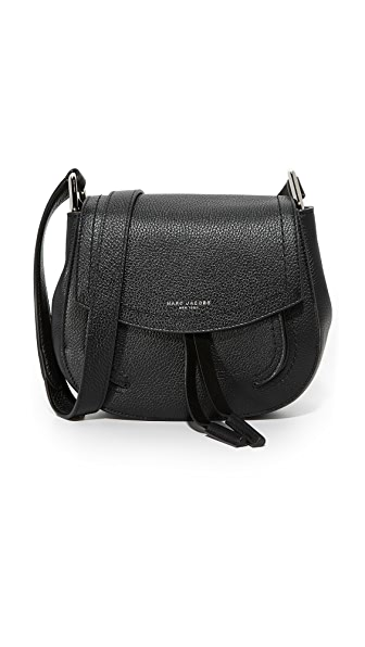 Marc Jacobs Maverick Saddle Bag In Black