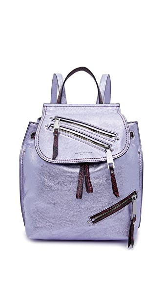 Marc Jacobs Metallic Zip Pack Backpack - Metallic Lilac Multi