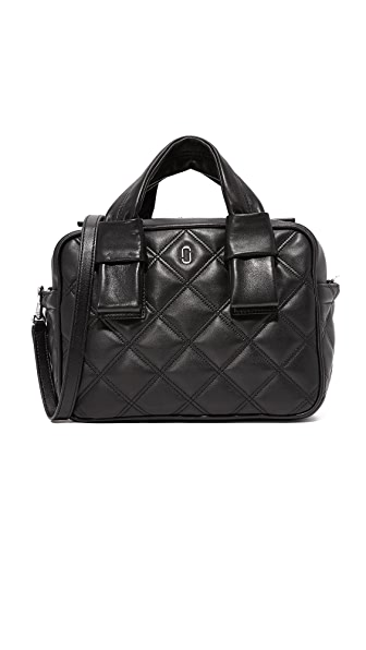 Marc Jacobs Quilted Antonia Bauletto Bag - Black