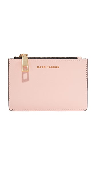 Marc Jacobs Top Zip Multi Wallet - Pale Pink Multi