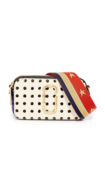 Marc Jacobs Polka Dot Snapshot Camera Bag In White Multi