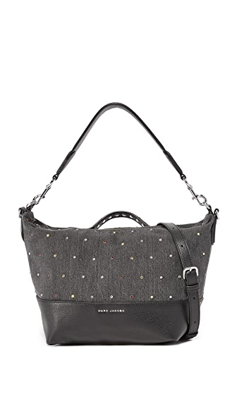 Marc Jacobs Embellished Grip Satchel - Black