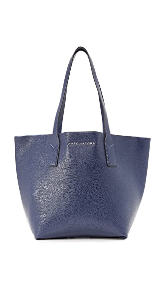 Marc Jacobs Wingman Tote In Midnight Blue/Lavender