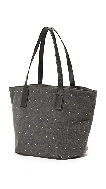 Marc Jacobs Embellished Denim Wingman Tote