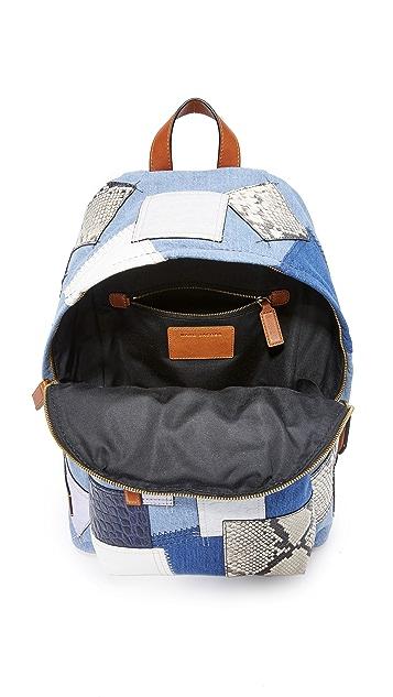 Marc Jacobs Denim Patchwork Biker Backpack