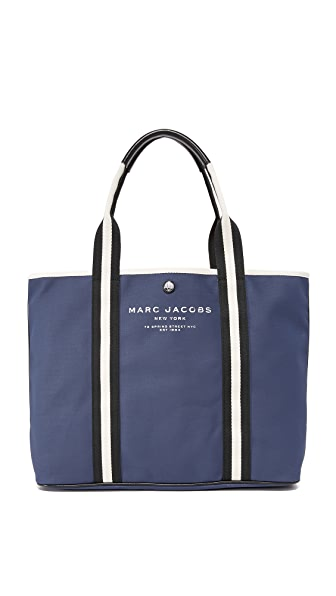 Marc Jacobs Canvas Shopper In Midnight Blue