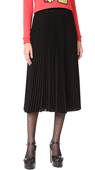Marc Jacobs Long Pleated Skirt - Black