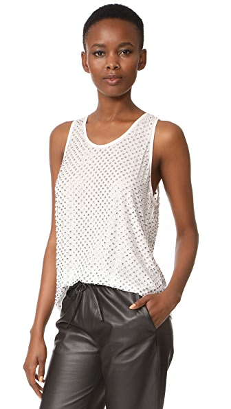 Marc Jacobs Allover Embellished Tank In White