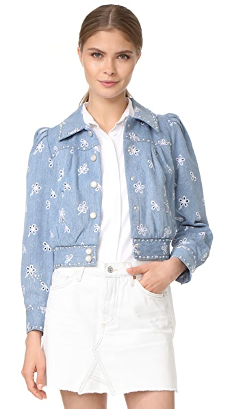 Marc Jacobs Shrunken Denim Bomber Jacket at Shopbop