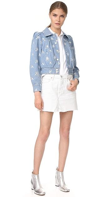 Marc Jacobs Shrunken Denim Bomber Jacket