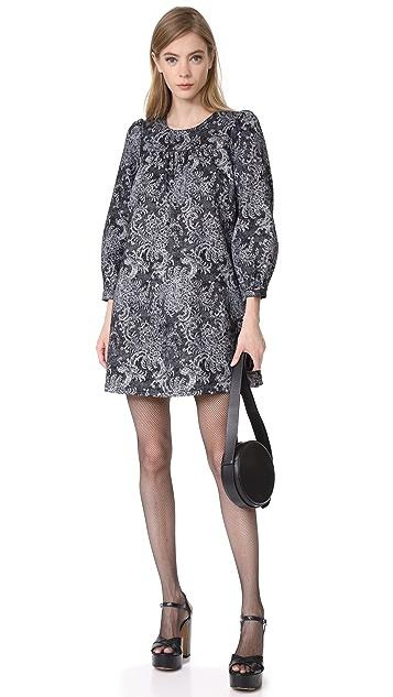 Marc Jacobs Long Sleeve Babydoll Dress