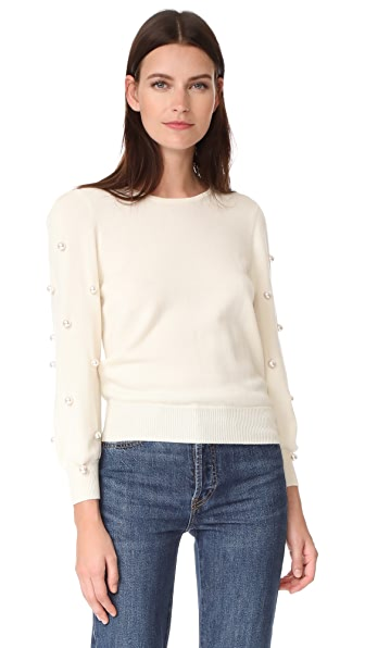Marc Jacobs Long Sleeve Crew Neck Sweater - Ivory