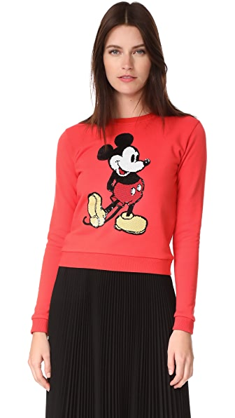 Marc Jacobs Shrunken Sweatshirt - Red