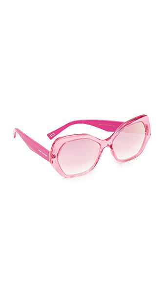 Marc Jacobs Geometric Mirrored Sunglasses - Fuchsia/Pink