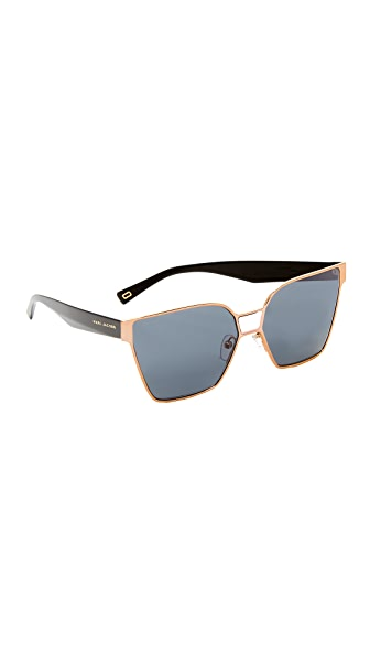 Marc Jacobs Square Sunglasses - Gold/Grey