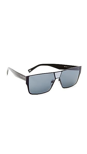 Marc Jacobs Flat Top Sunglasses - Black/Grey Blue
