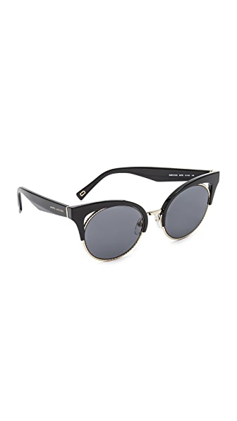 Marc Jacobs Rope Rim Sunglasses - Black/Grey Blue
