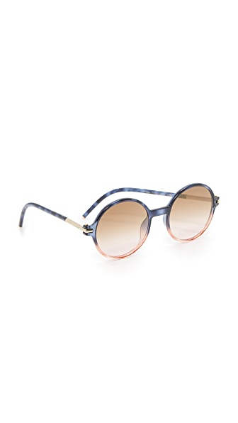 Marc Jacobs Perfectly Round Sunglasses - Havana Blue Pink/Brown