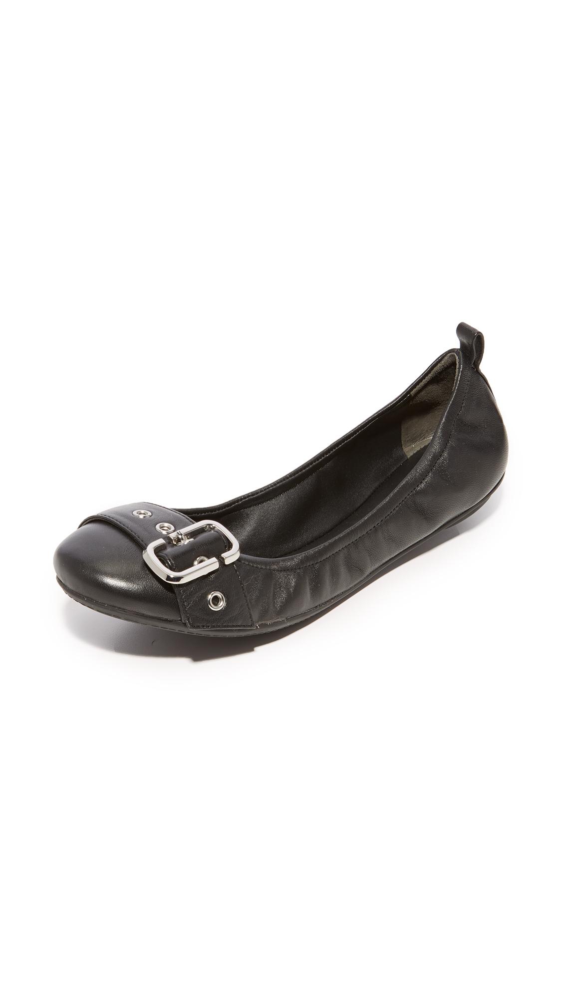 Marc Jacobs Dolly Buckle Ballerina Flats - Black