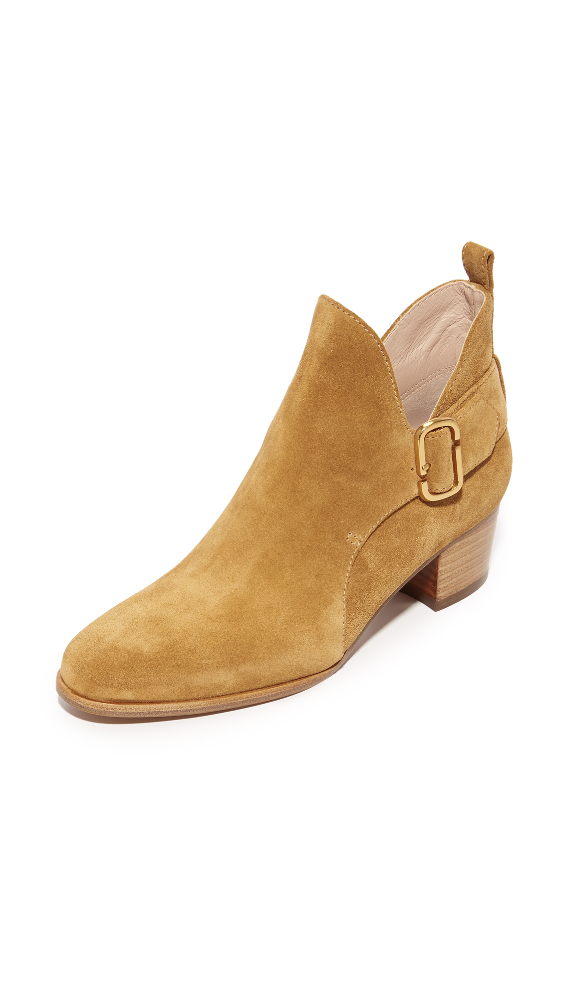 Marc Jacobs Ginger Interlock Ankle Booties - Camel