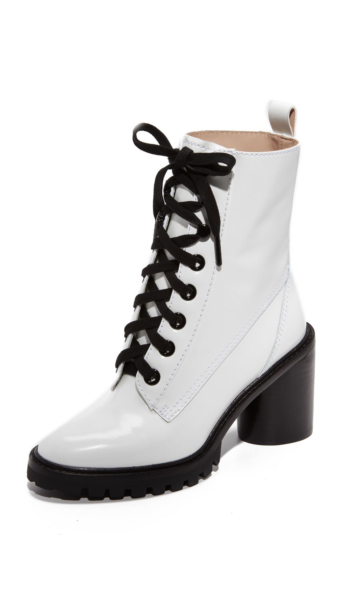 Marc Jacobs Ryder Lace Up Ankle Boots - White