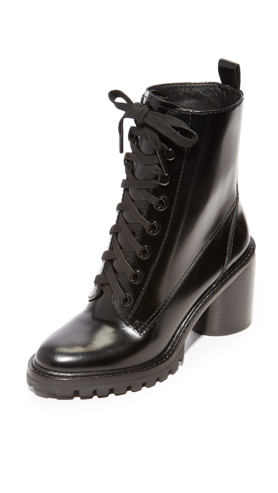 Marc Jacobs Ryder Lace Up Ankle Boots - Black