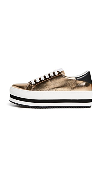 Marc Jacobs Grand Platform Sneakers In Gold