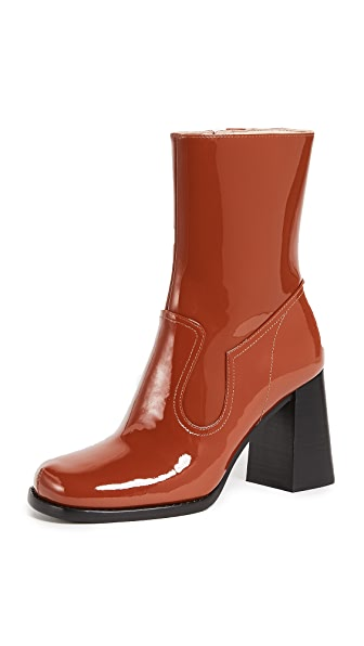 Marc Jacobs Ross Ankle Boots In Rust