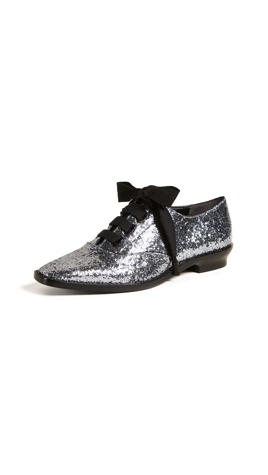 Marc Jacobs Brittany Lace Up Oxfords - Antique Silver